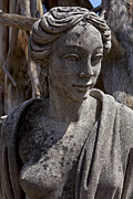 Statue Portrait Prints - Female statue Print by Garry Gay