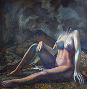Surrealism Painting Originals - Female suit by Fernando Alvarez