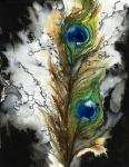 Peacock Tapestries Textiles - FeMale by Tara Thelen - Printscapes