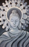 Feminine Buddha In A Peaceful Place Print by Nicole Werth