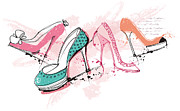Shoe Digital Art - Feminine Shoes by Eastnine Inc.
