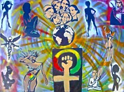 Human Rights Painting Framed Prints - Feminism 101 Framed Print by Tony B Conscious