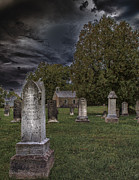 Haunted  Digital Art Posters - Femme Osage Cemetery Poster by Bill Tiepelman