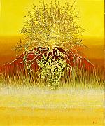 Lit Painting Originals - Fen thorn by John Lincoln