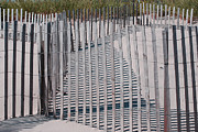 Hamptons Prints - Fence Patterns I Print by Andrea Simon