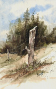Fence Paintings - Fence Post by Sam Sidders