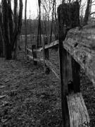Split Rail Fence Prints - Fence To Nowhere Print by Jennifer Stone