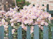 Mosaic Mixed Media - Fenced Mosaic by Tingy Wende