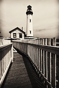 High And Low Framed Prints - Fenced Path to the Lighthouse Framed Print by George Oze
