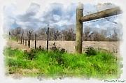 Clouds Art - Fenceline by Paulette Wright