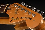 Stratocaster Art - Fender Stratocaster Headstock by Corky Willis Atlanta Photography