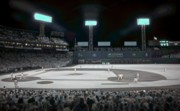 Baseball Photo Metal Prints - Fenway Infrared Metal Print by James Walsh