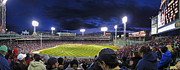 Baseball Stadium Photos - Fenway Night by Rick Berk