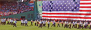 Boston Sox Prints - Fenway Park 100th Print by Joann Vitali