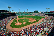 Baseball Field Framed Prints - Fenway Park - Boston Red Sox Framed Print by Mark Whitt