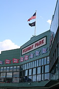 Red Sox Art Photo Metal Prints - Fenway Park Centennial Metal Print by Loud Waterfall Photography Chelsea Sullens