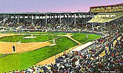 Boston Ma Painting Metal Prints - Fenway Park In Boston Ma In 1940 Metal Print by Dwight Goss