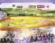 New York Baseball Parks Painting Posters - Fenway Park Poster by Joseph Gallant
