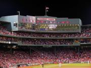 Red Photo Metal Prints - Fenway Park Metal Print by Juergen Roth
