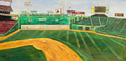 Baseball Painting Metal Prints - Fenway Park Metal Print by Kristin St Hilaire