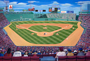 Fenway Park Painting Metal Prints - Fenway Park Metal Print by Richard Ramsey
