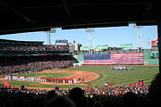 Red Sox Framed Prints - Fenway Patriotic Framed Print by Stephen Melcher