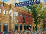 Red Sky Paintings - Fenway Summer by Gregg Hinlicky