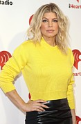 Yellow Sweater Posters - Fergie At Arrivals For Clear Channel Poster by Everett