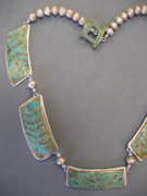 Brass Etching Jewelry - Fern Sections by Brenda Berdnik