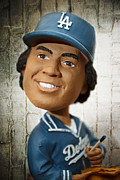 Los Angeles Dodgers Posters - Fernandomania II Poster by Ricky Barnard
