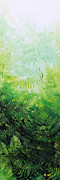 Five Canvas Paintings - Ferns 2 by Hanne Lore Koehler