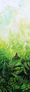 Five Canvas Paintings - Ferns 3 by Hanne Lore Koehler