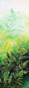Pentaptych Paintings - Ferns 5 by Hanne Lore Koehler