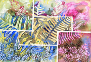 Botanicals Mixed Media Originals - Ferns by Edith Hardaway