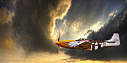 North Ameriacn Aviation P-51 Mustang Prints - Ferocious Frankie Print by Meirion Matthias
