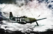 Dogfight Prints - Ferocious Textured Print by Peter Chilelli