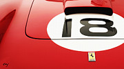 Indy Car Prints - Ferrari 250 GT Hood Print by Curt Johnson