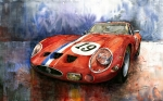 Vintage Auto Prints - Ferrari 250 GTO 1963 Print by Yuriy  Shevchuk