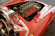 Digital Processing Prints - Ferrari 250 TR Engine and Dash Print by Curt Johnson