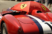Indy Car Prints - Ferrari 250 TR Made in the Shade Print by Curt Johnson