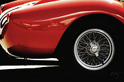Digital Processing Prints - Ferrari 250TR 1958 wheel Print by Curt Johnson