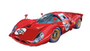 Sport Digital Art Prints - Ferrari 412P 330 P4 1967 Le Mans Print by Yuriy  Shevchuk