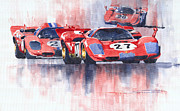 Sports Paintings - Ferrari 512 S 1970 24 Hours of Daytona by Yuriy  Shevchuk