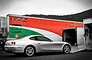 Nurburgring Framed Prints - Ferrari 612 Scaglietti Framed Print by Andrew  Cragin