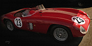 Indy Car Framed Prints - Ferrari 750 Monza 1954 Framed Print by Curt Johnson