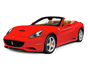 Red Roof Prints - Ferrari California Print by Oleksiy Maksymenko
