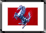 Car Emblems Prints - Ferrari Emblem 1 Print by Tom Griffithe