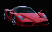 Supercar Digital Art - Ferrari Enzo V12 by Peter Chilelli