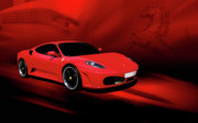 Joel Witmeyer Prints - Ferrari F430 Print by Joel Witmeyer