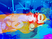 Laguna Seca Prints - Ferrari pit stop Print by Irina  March